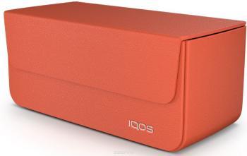 iQOS 2.4 Кожаный чехол (Оранжевый)