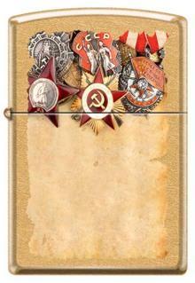 Зажигалка Zippo 207 G Russian Medals
