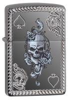 Зажигалка Zippo Spade & Skull Design 29666