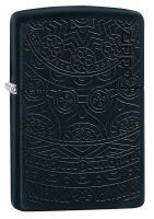 Зажигалка Zippo Black Matte Tone on Tone Design 29989
