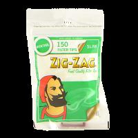 Фильтры для самокруток Zig-Zag Slim Menthol 6 мм 150 шт