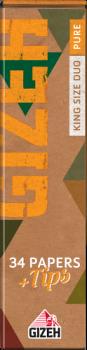 Бумага сигаретная Gizeh Pure King Size Duo Slim + Tips (34 шт)
