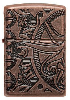 Зажигалка Zippo Antique Copper™ Nautical Scene Design 49000