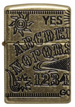 Зажигалка Zippo Antique Brass Ouija Board Design 49001