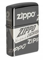 Зажигалка Zippo Black Ice® Logo Design 49051