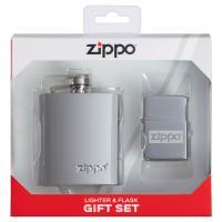 Подарочный набор зажигалка Zippo 49358 и фляжка