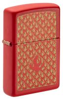 Зажигалка Zippo Red Matte Flame Pattern 49573