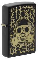 Зажигалка Zippo Black Matte Skull Gas Mask 49574