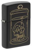 Зажигалка Zippo Black Matte Skull Design 49575