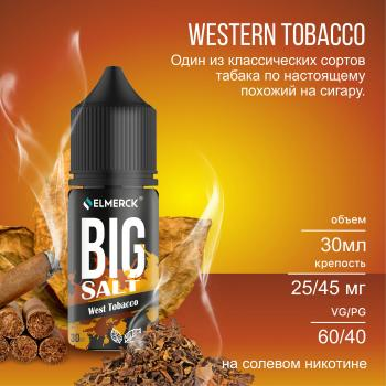 Жидкость Big Salt West Tobacco (25 мг/30 мл)