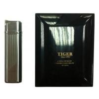 Зажигалка газовая Tiger Premium в деревянной коробке