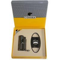 Набор для сигар COHIBA COB-61 TTN (зажигалка, гильотина)