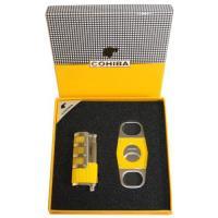 Набор для сигар COHIBA COB-68 YLW (зажигалка с пробойником, гильотина)