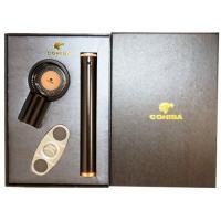 Набор для сигар COHIBA HB-T301 BLK (пепельница, гильотина, туба)