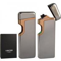 USB зажигалка ELECTRO Z-8869 dual arc SLV
