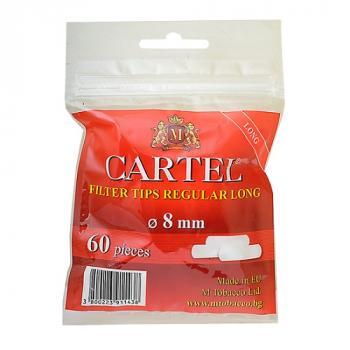 Фильтры для самокруток Cartel Long (8 мм/60 шт)