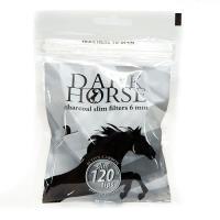 Фильтры для самокруток Dark Horse Slim Carbon (6 мм/120 шт)