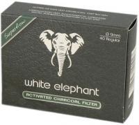 Фильтры для трубки White Elephant Aktiv Kohle (9 мм/40 шт)