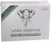 Фильтры для трубки White Elephant Natural Meerschaum Aktiv Kohle (9 мм/40 шт)