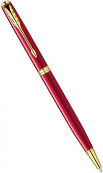 Ручка шариковая Parker Sonnet 13 Slim K439 Lacquer Red GT (1859473)