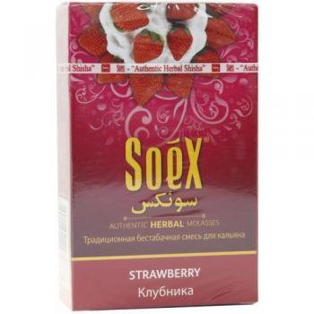Кальянная смесь Soex Strawberry Клубника (50 г)