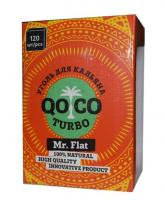 Уголь для кальяна Qoco Turbo Mr. Flat (120 куб)